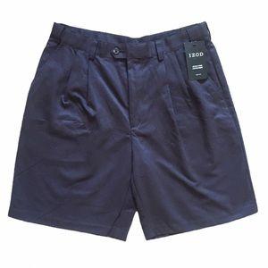NWT Izod Stain Free Microfiber Golf Shorts Black